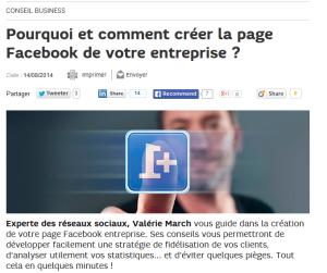 Pourquoi et comment créer la page Facebook de votre entreprise