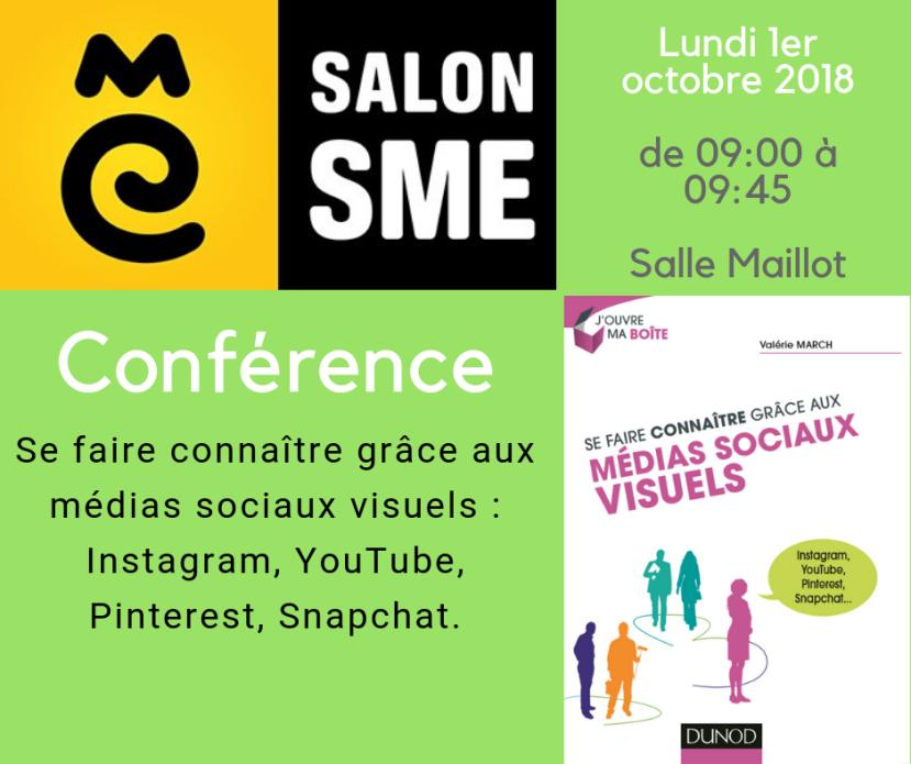 Conférence Se faire connaitre grâce aux médias sociaux visuels : Instagram, YouTube, Pinterest, Snapchat